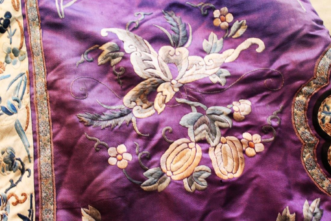Antique Chinese Hand Carved Silk Cloth - 8