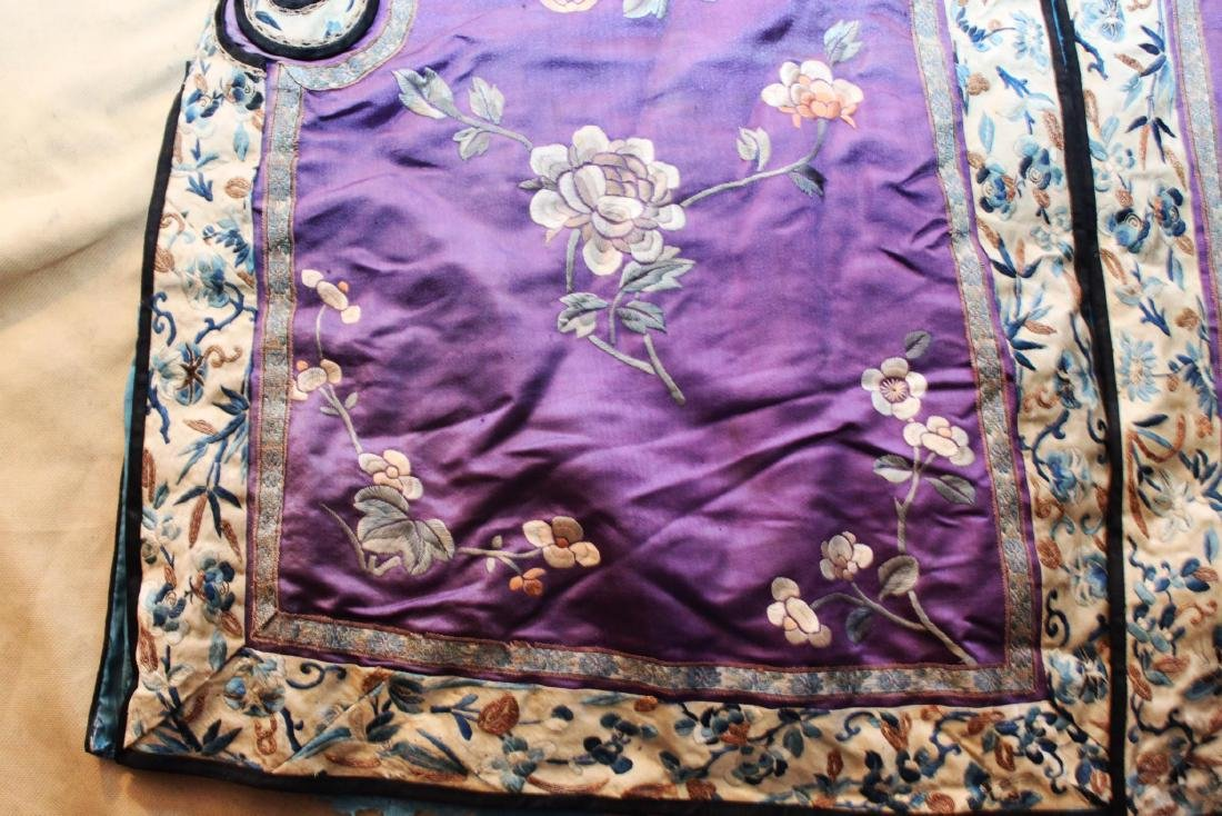 Antique Chinese Hand Carved Silk Cloth - 9