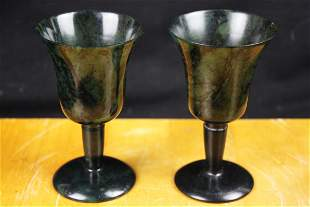 Chinese Spanish Green Jade Cup