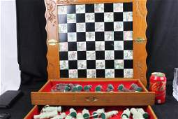Antique Chinese Hand Carved Chess