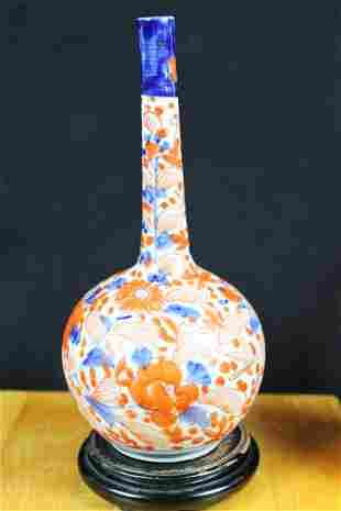 Antique Chinese Long Neck Porcelain Vase