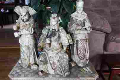 Antique Chinese Tang Heros