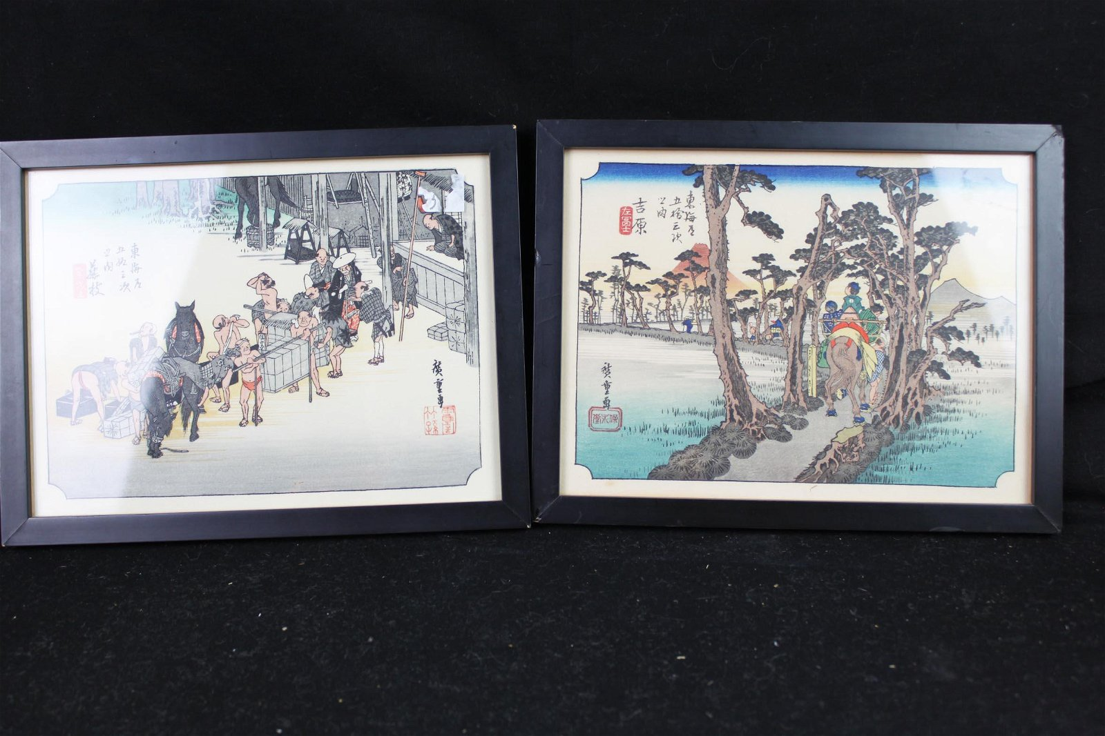 Antique Japanese Block Painting