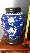 Antique Chinese Blue &WHite Plum Jar