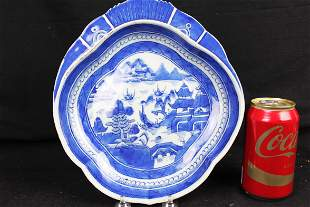18th century Chinese BlueWhite Porcelain Plate