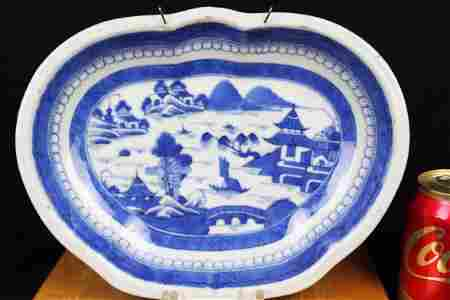 Antique Chinese Blue&White Porcelain Plate 18th century