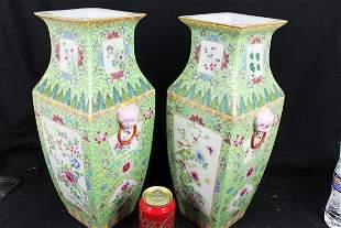 A Pair Antique Chinese Porcelain Vase