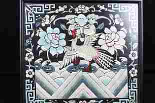 Antique Chinese Hand Carve Silk Painting