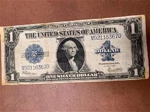 U.S. Dollar Bill from 1923
