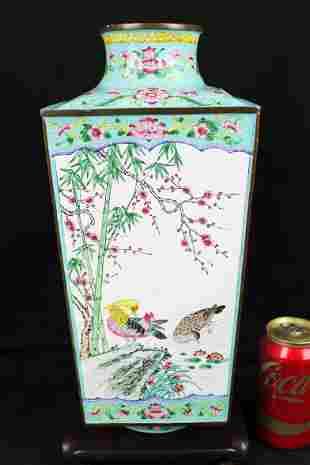 Antique Chinese Cloisonne - Falang vase
