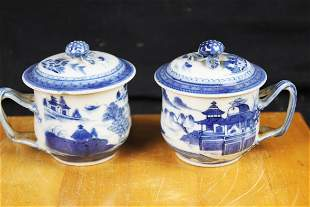 A Pair Chinese Blue&White Porcelain Cups