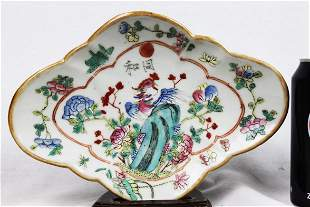 Diamond Shape Antique Porcelain Plate