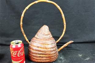 Hand Carved Chinese Bamboo Tea Pot - Yu Nan