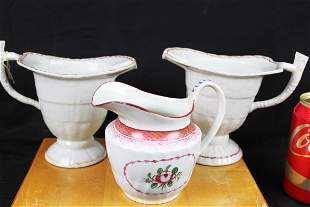 Three Antique Chinese Porcelain Sauce Cup