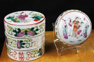 Antique Chinese Porcelain Tray and Pot