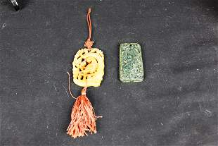 Antique Chinese Jade Necklace Pendants