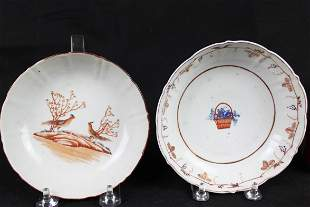 Antique Chinese Porcelain Plates 1900s or earlier