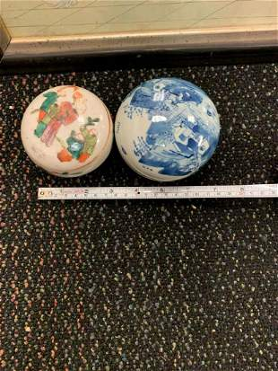 Antique Two Chinese Porcelain Items