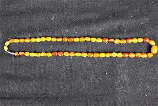 Antique Chinese Amber Necklace