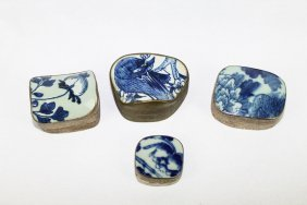 Four of Chinese Antique Porcelain Boxes