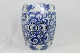 Chinese Blue&White Porcelain Garden Seat