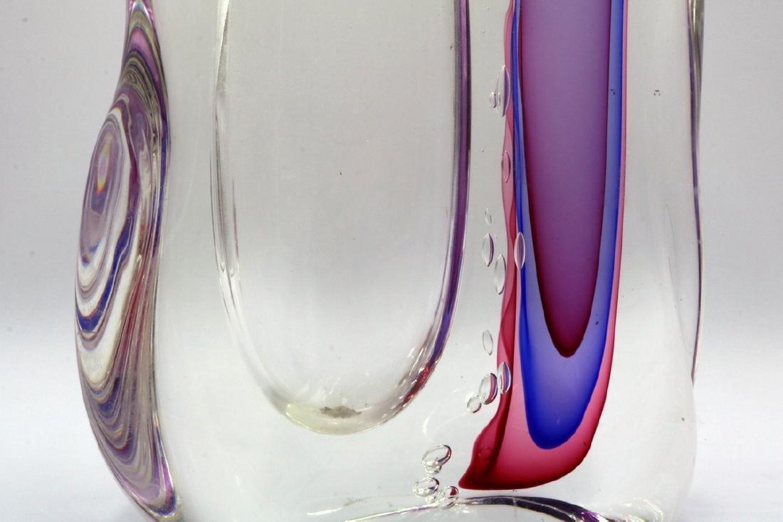 """Gino Onesto """"Sommerso"""" Murano Italian Art Glass Vessel - 3"""