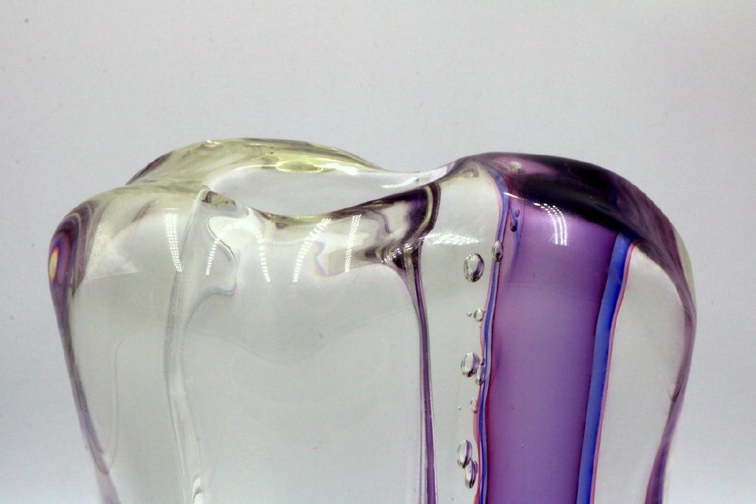 """Gino Onesto """"Sommerso"""" Murano Italian Art Glass Vessel - 4"""