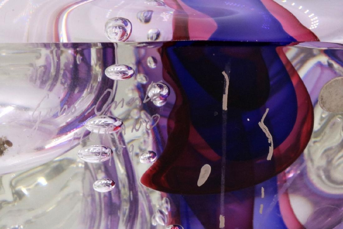 """Gino Onesto """"Sommerso"""" Murano Italian Art Glass Vessel - 5"""