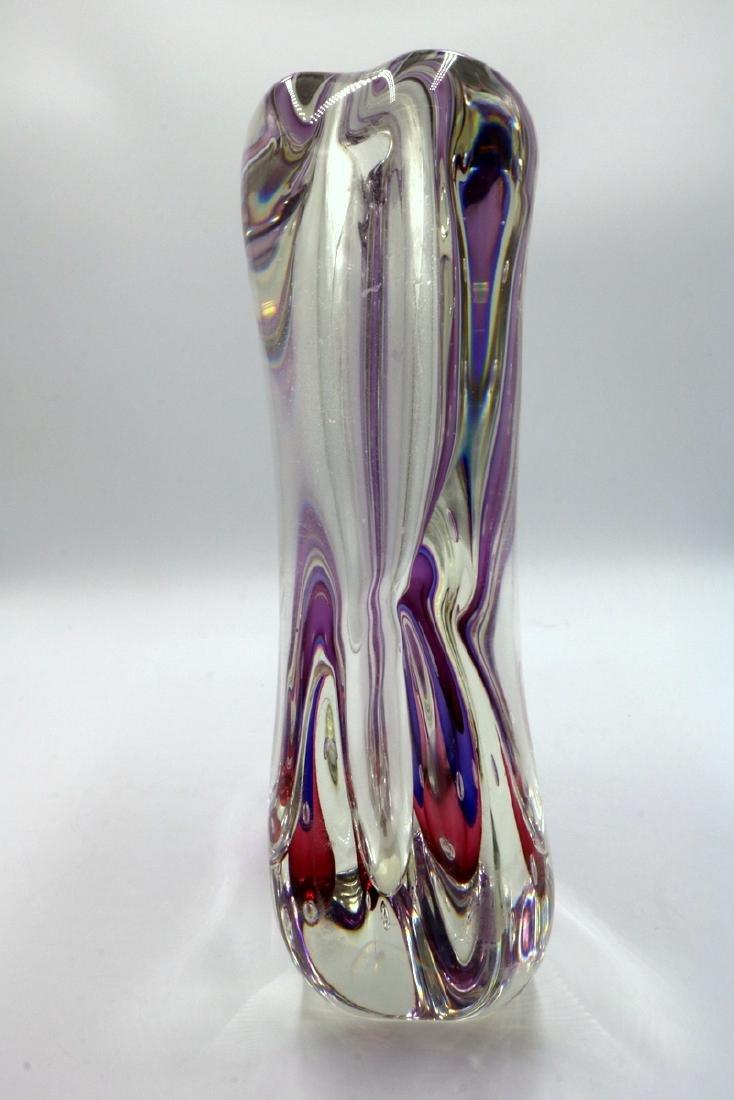 """Gino Onesto """"Sommerso"""" Murano Italian Art Glass Vessel - 6"""