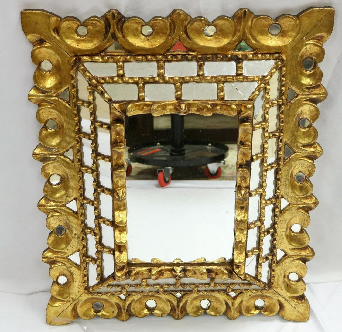 Antique Gilded Wall Mirror