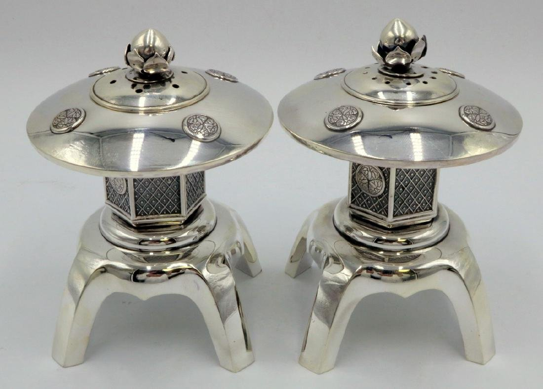 Rare Sterling Silver Salt & Pepper Shakers & Candle