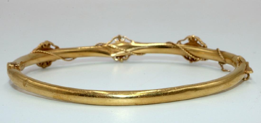 14Kt YG Opal Bangle Bracelet - 3