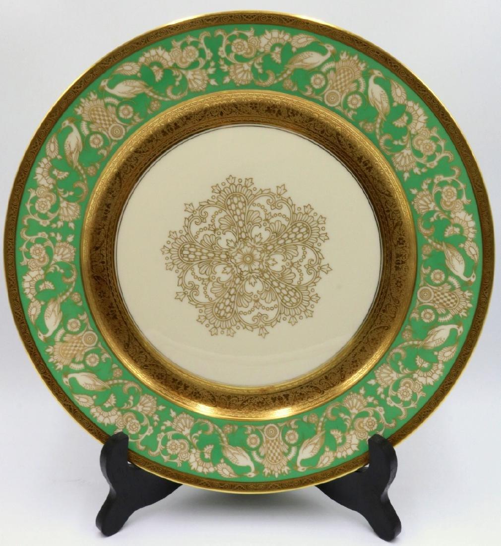 12 Pc. Rosenthal Ivory Gilt Painted Dinner Plates