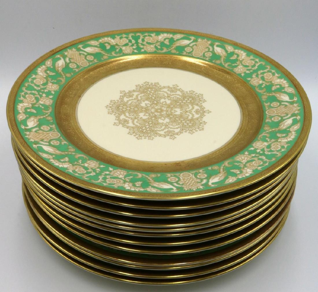 12 Pc. Rosenthal Ivory Gilt Painted Dinner Plates - 2