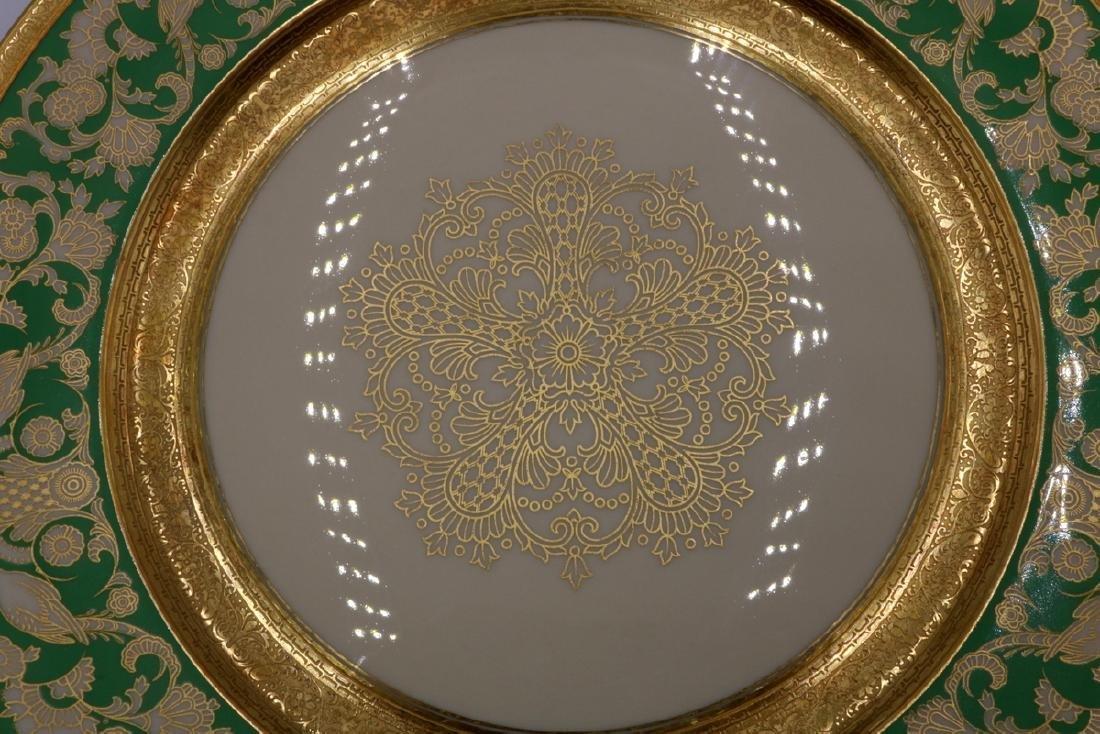 12 Pc. Rosenthal Ivory Gilt Painted Dinner Plates - 3