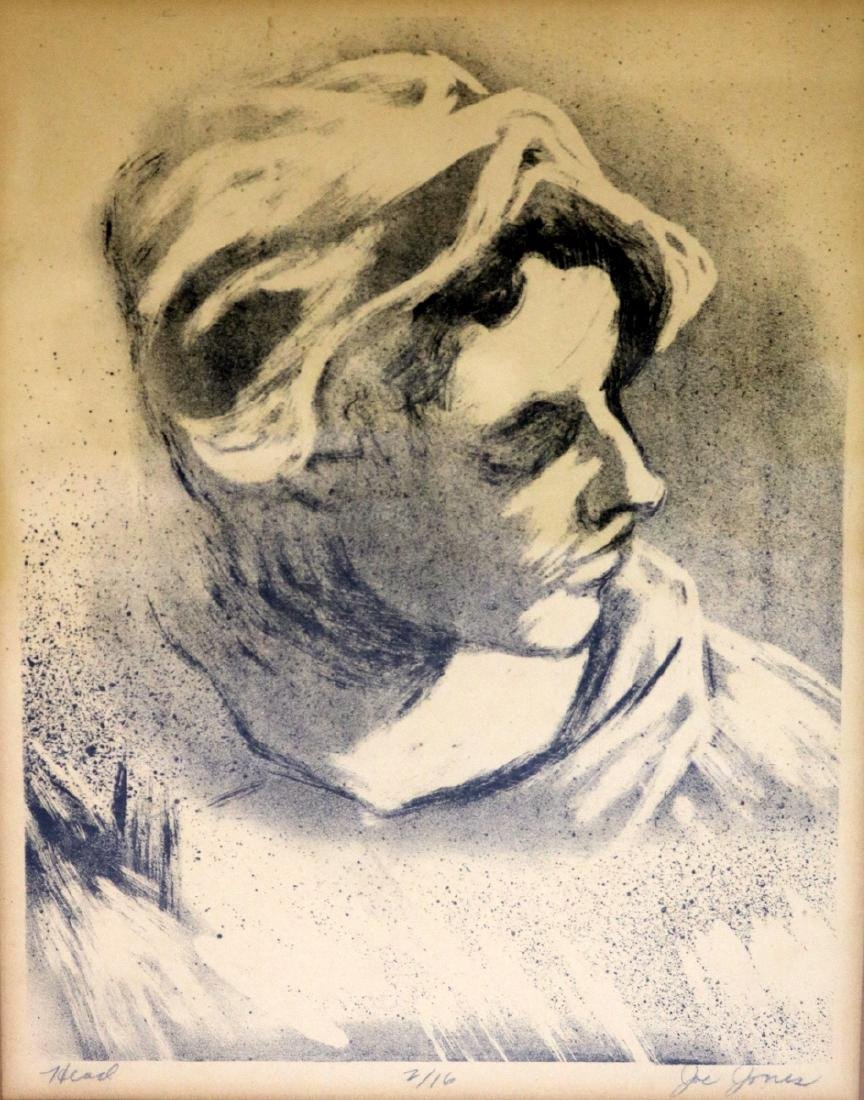 "Joe Jones (American 1909-1963) ""Head"" Lithograph"
