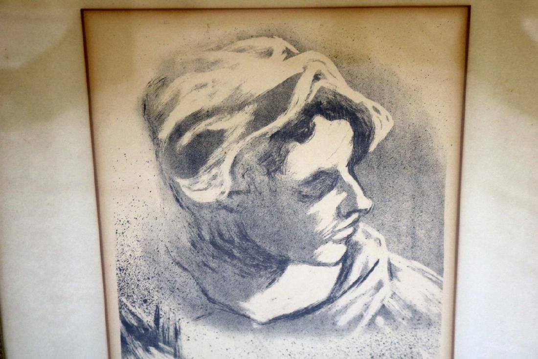 "Joe Jones (American 1909-1963) ""Head"" Lithograph - 3"