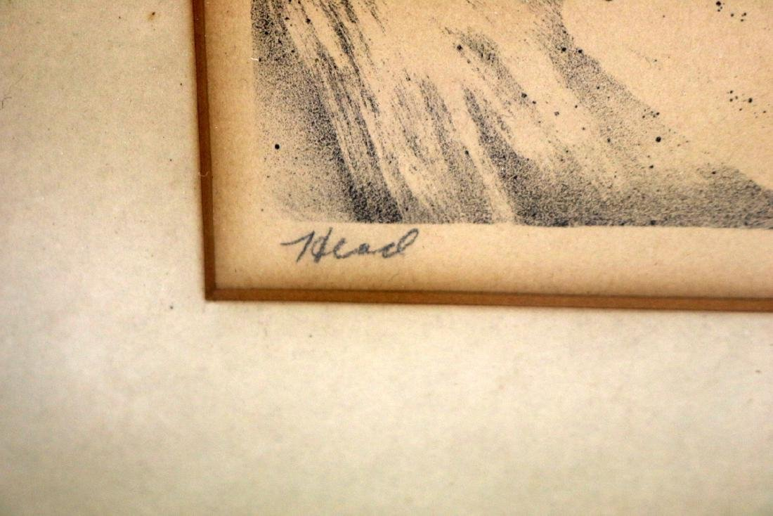 "Joe Jones (American 1909-1963) ""Head"" Lithograph - 4"