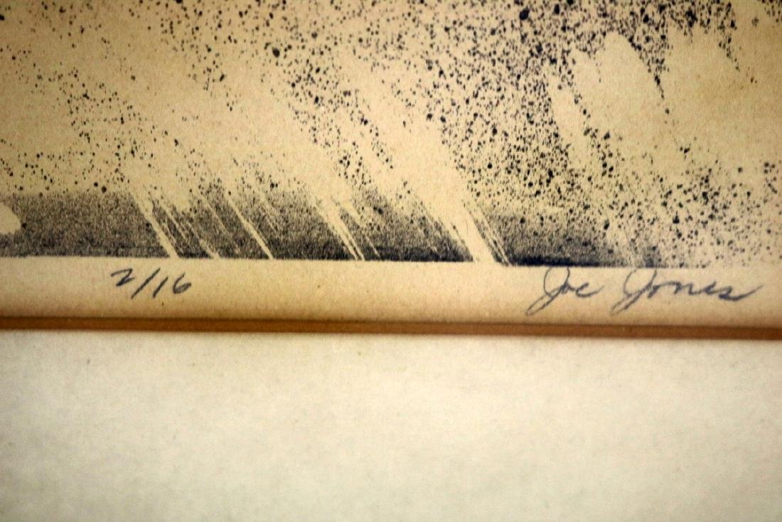 "Joe Jones (American 1909-1963) ""Head"" Lithograph - 5"