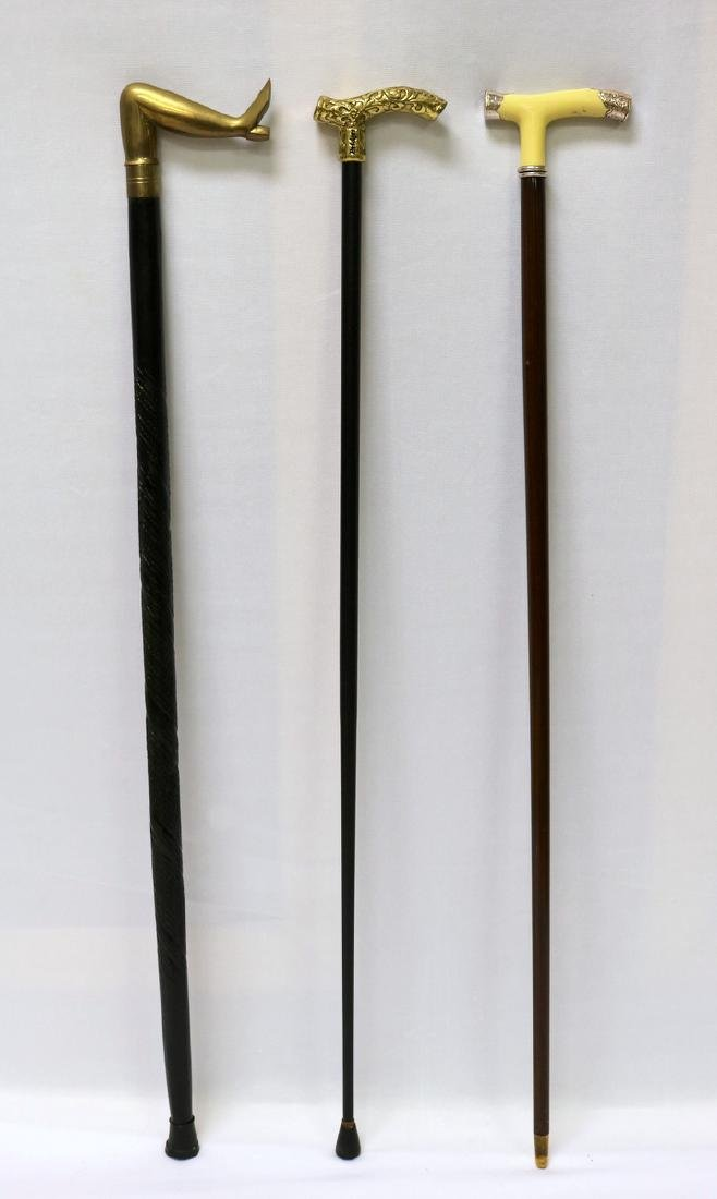 3 Pc. Misc. Walking Canes