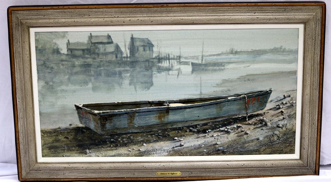 Signed Edward Gifford Oil Painting on Board - 2