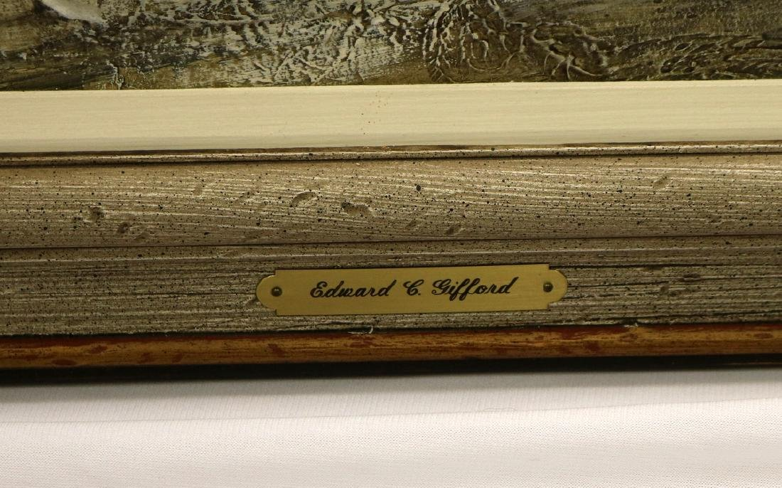 Signed Edward Gifford Oil Painting on Board - 5