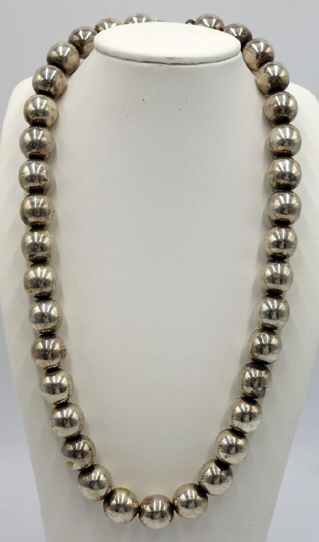 Beautiful Sterling Beaded Necklace