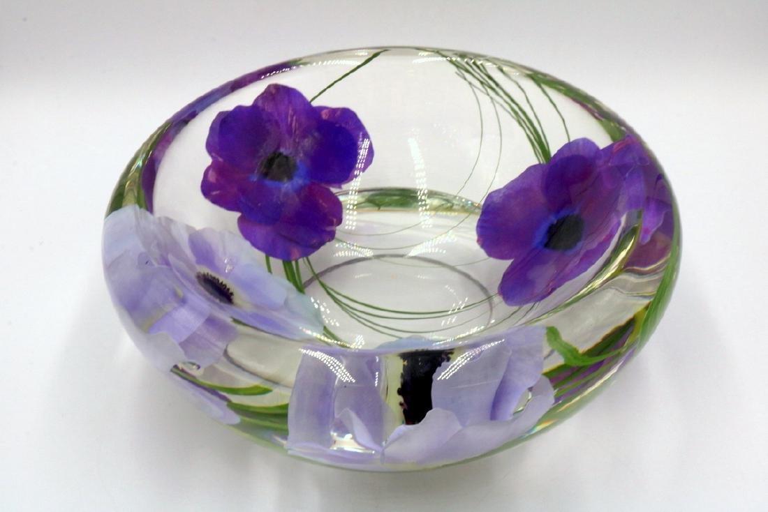 Emilio Robba Floral Art Glass Bowl