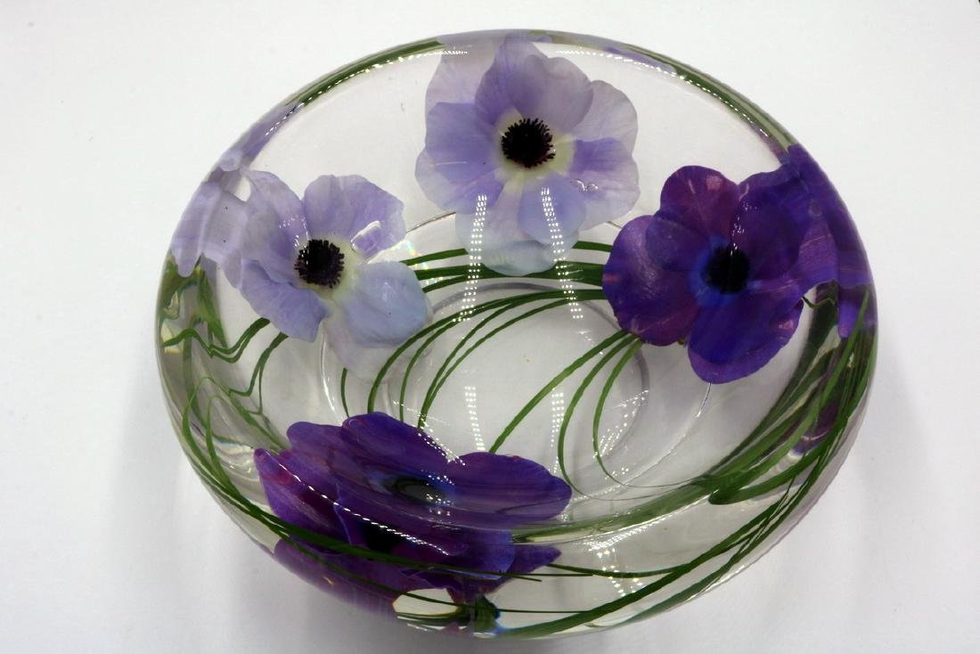 Emilio Robba Floral Art Glass Bowl - 4