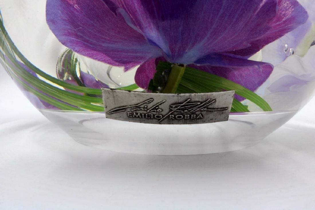 Emilio Robba Floral Art Glass Bowl - 6