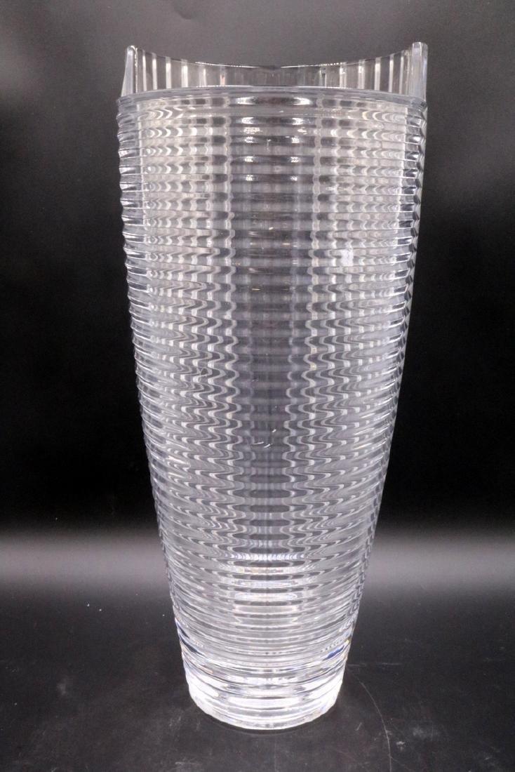 Beautiful Clear Art Glass Vase