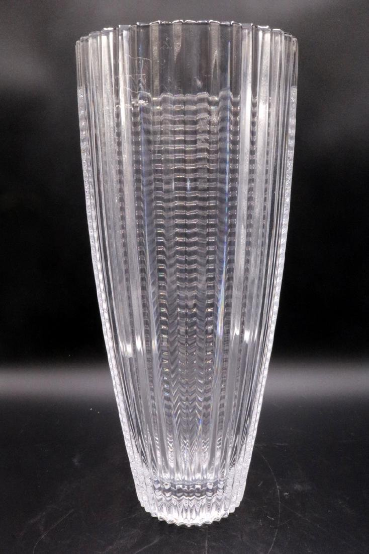 Beautiful Clear Art Glass Vase - 4