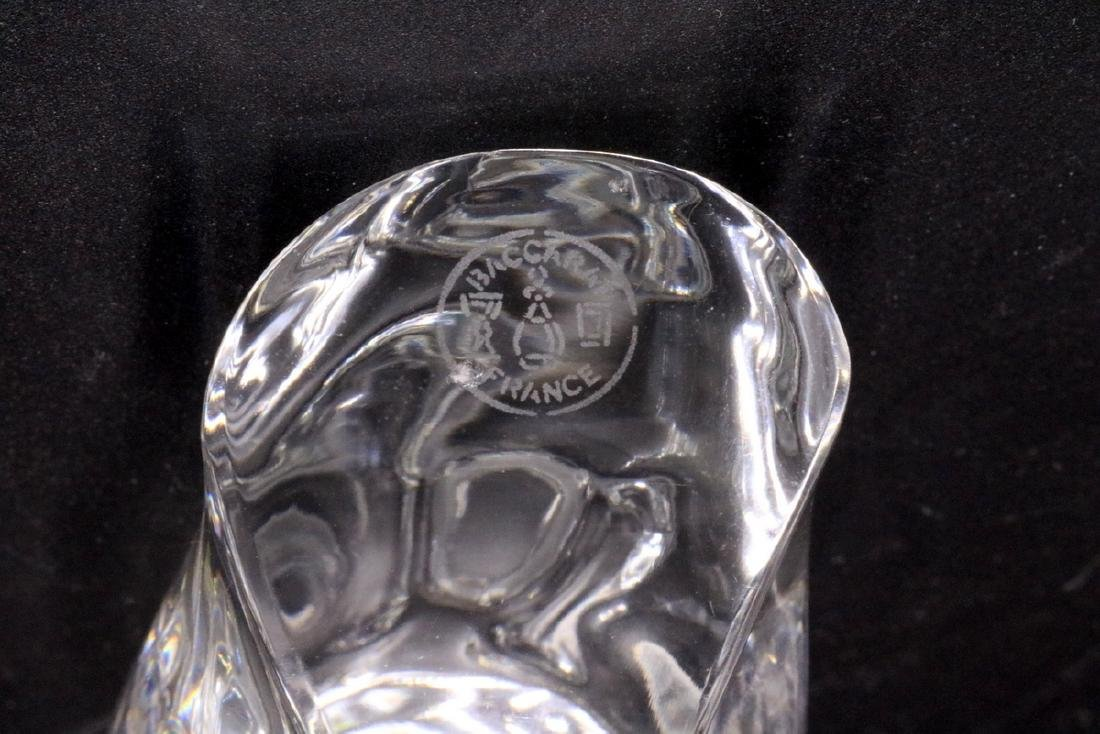 Baccarat Crystal Owl Paperweight - 5