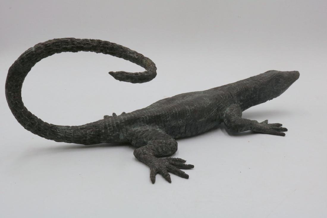 Maitland Smith Bronze Lizard - 5